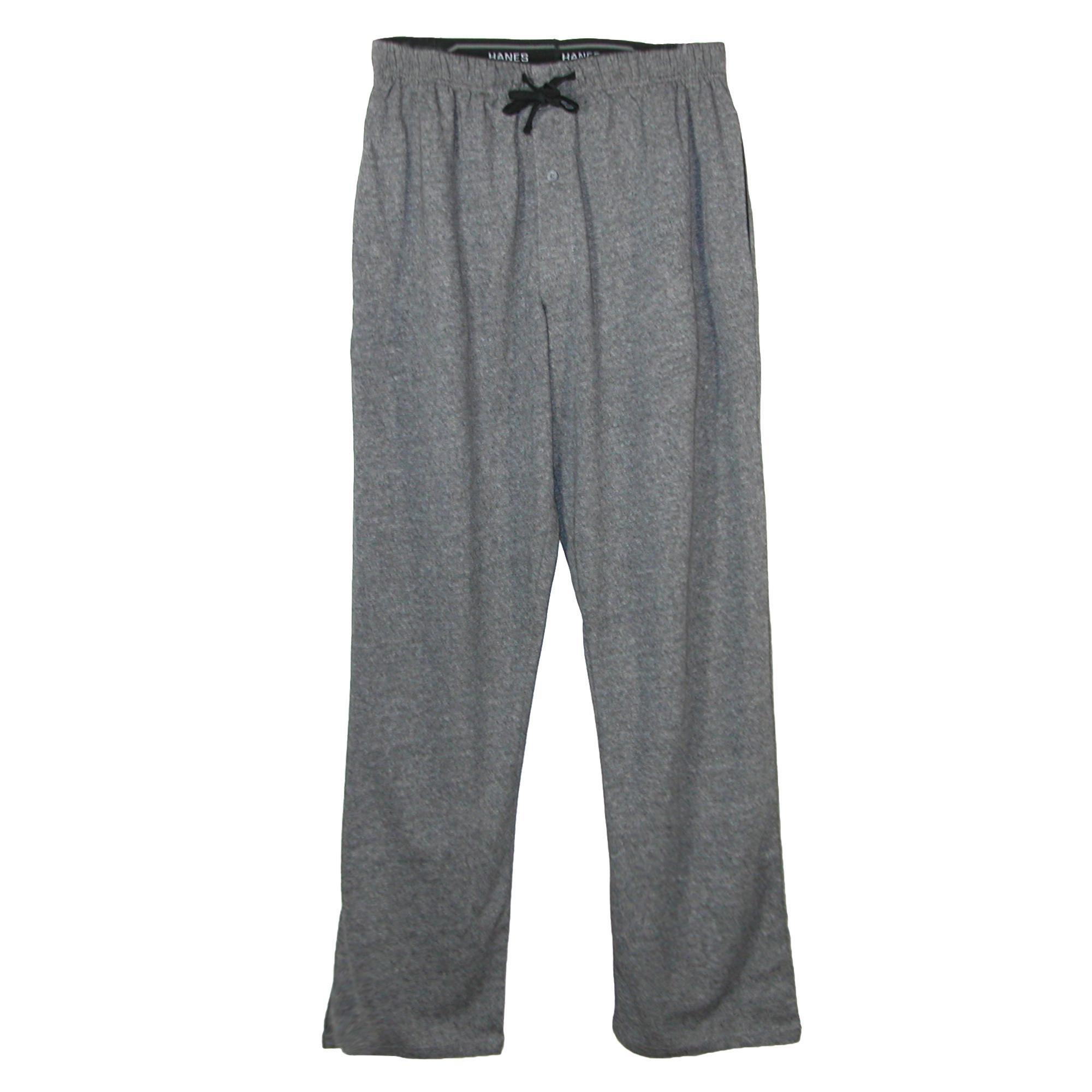 Hanes Men's X Temp Knit Lounge Pajama Pants, Large, New Grey