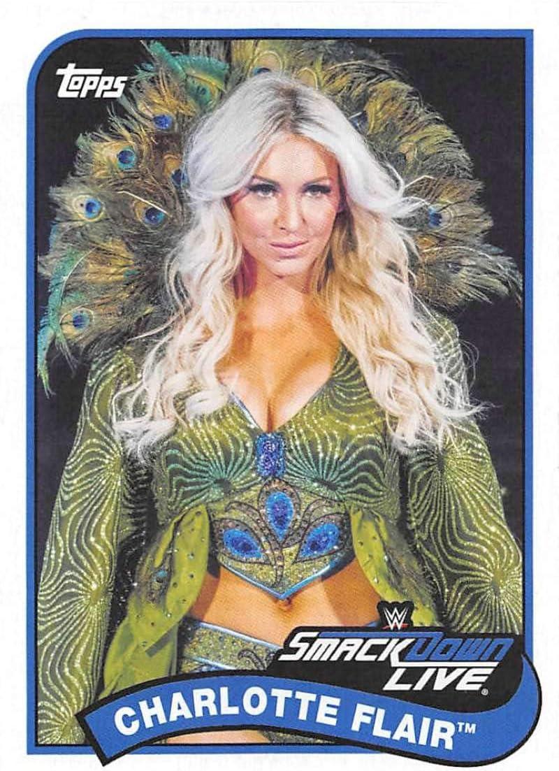 2018 Topps Heritage WWE #22 Charlotte Flair Wrestling Card
