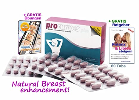 Procurves Plus Tabletten zur Brustvergrößerung für mehr Brustvolumen und für einen schönen Busen und ein attraktives Dekollet