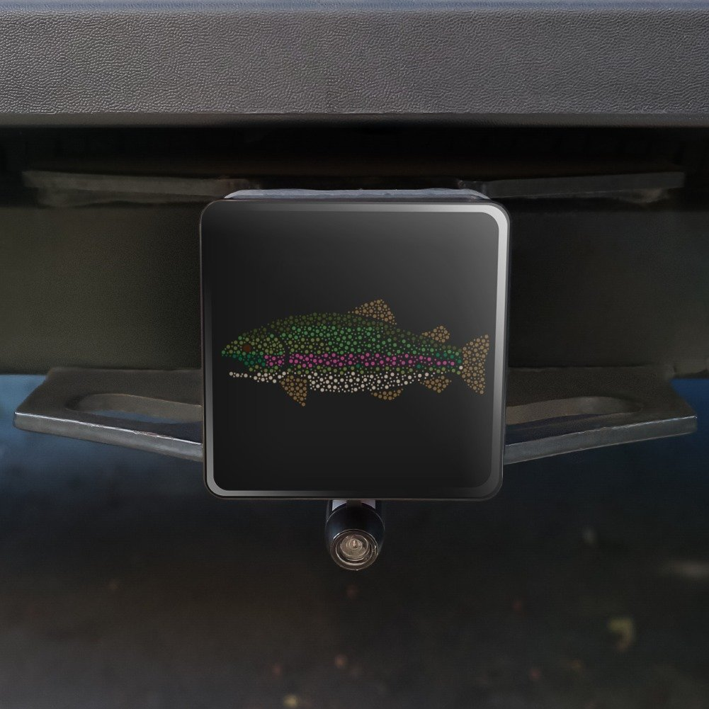 Graphics and More Rainbow Trout Fish Dots Spots Pattern Tow Trailer Hitch Cover Plug Insert 2