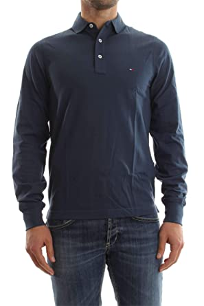 Tommy Hilfiger MW0MW04127 Tommy Polo Polo Hombre Denim M: Amazon ...