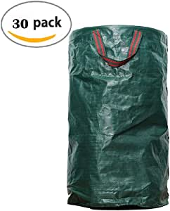 Fregona XUEP Bolsas de jardín Bolsas De Jardin Sacos De Jardín Saco De Basura De Jardín Grandes Bolsas De Basura con Asas, Plegables Y Reutilizables ( Paquete de 30): Amazon.es: Hogar