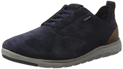 Geox U Xunday 2fit A, Sneakers Basses Homme, Bleu (Navy), 44 EU