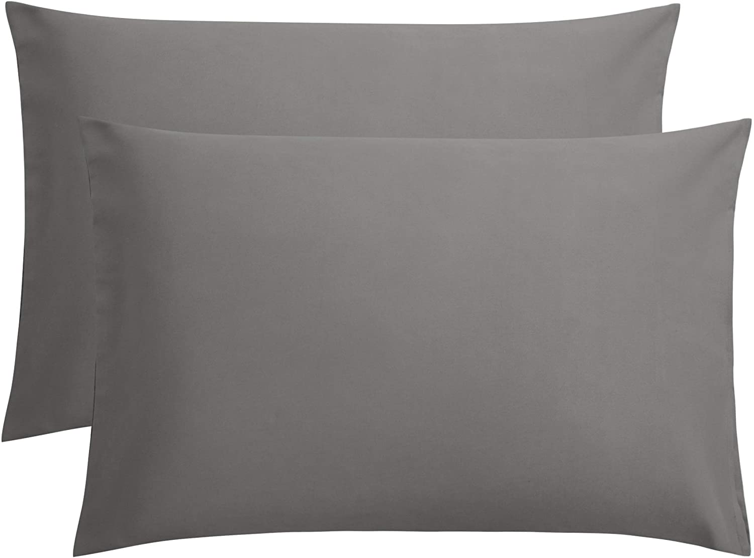 "FLXXIE Microfiber Queen Pillowcases, 2 Pack Ultra Soft Premium Quality, 20"" x 30"", Dark Grey"
