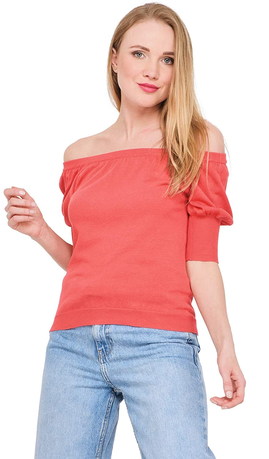 3654 Solid Short-Sleeved Sweater Summer Collection Women