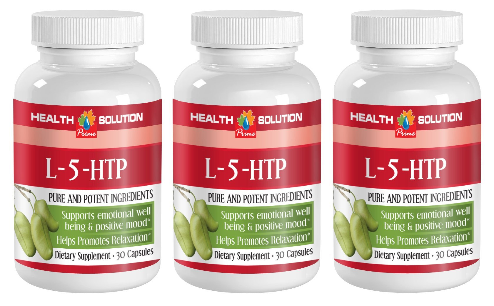 5 htp with vitamin b - L-5-HTP - improve low moods (3 Bottles)