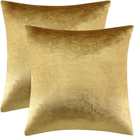 Cuscini Color Oro.Gigizaza Oro Cuscino Copre Caso La Striscia Di Velluto Accento A