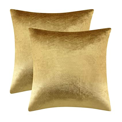 Cuscini Oro.Gigizaza Oro Cuscino Copre Caso La Striscia Di Velluto Accento A