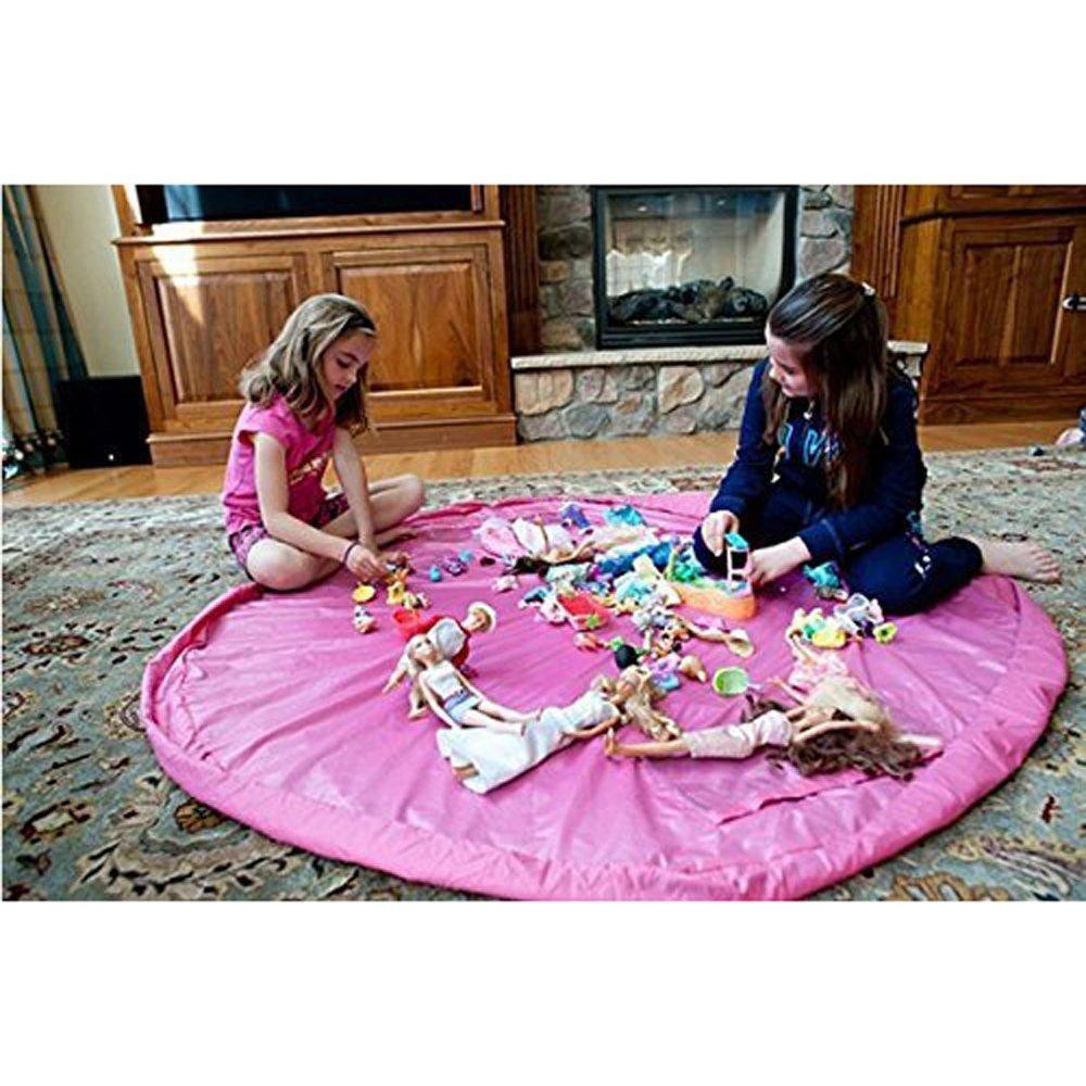 BigNoseDeer Toy Storage Bag, Children Play Mat 60 inch(150cm) Foldable baby Kids Rug Portable Child Toy Organizer Lcc International Co. Limited La50 Storage toy