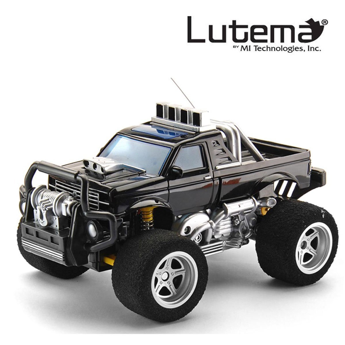 amazon com lutema big shocker 4ch remote control truck black