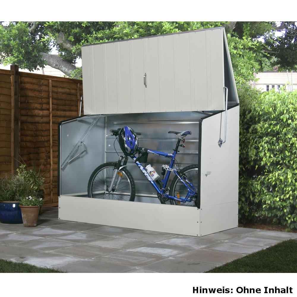 fahrradbox und fahrradgarage aus metall infos preise. Black Bedroom Furniture Sets. Home Design Ideas