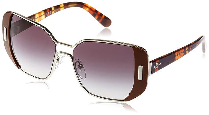 812905d25f31 Amazon.com  Prada Women PR59SS - USA5D1 Sunglasses 54mm Silver  Brown   Clothing