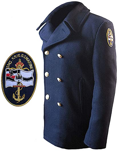 GIACCONE MARINA MILITARE TEDESCA IN PANNO PEACOAT BLU  Amazon.it ... d73c081b3b1