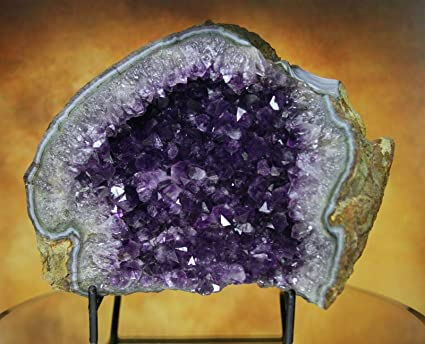 Amazon com: Mine Treasures Elegant Purple Amethyst Geode