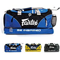 Fairtex Gym Bag Gear Equipment Color Blue or Gray or Yellow for Muay Thai, Boxing, Kickboxing, MMA