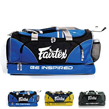 Fairtex Gym Bag Gear Equipment Color Blue Or Gray Yellow For Muay Thai Boxing