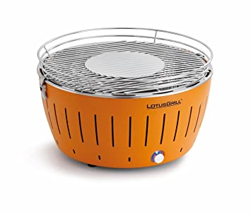 LotusGrill G-OR-34 - Barbacoa de carbón sin humo, color naranja: Amazon.es: Jardín