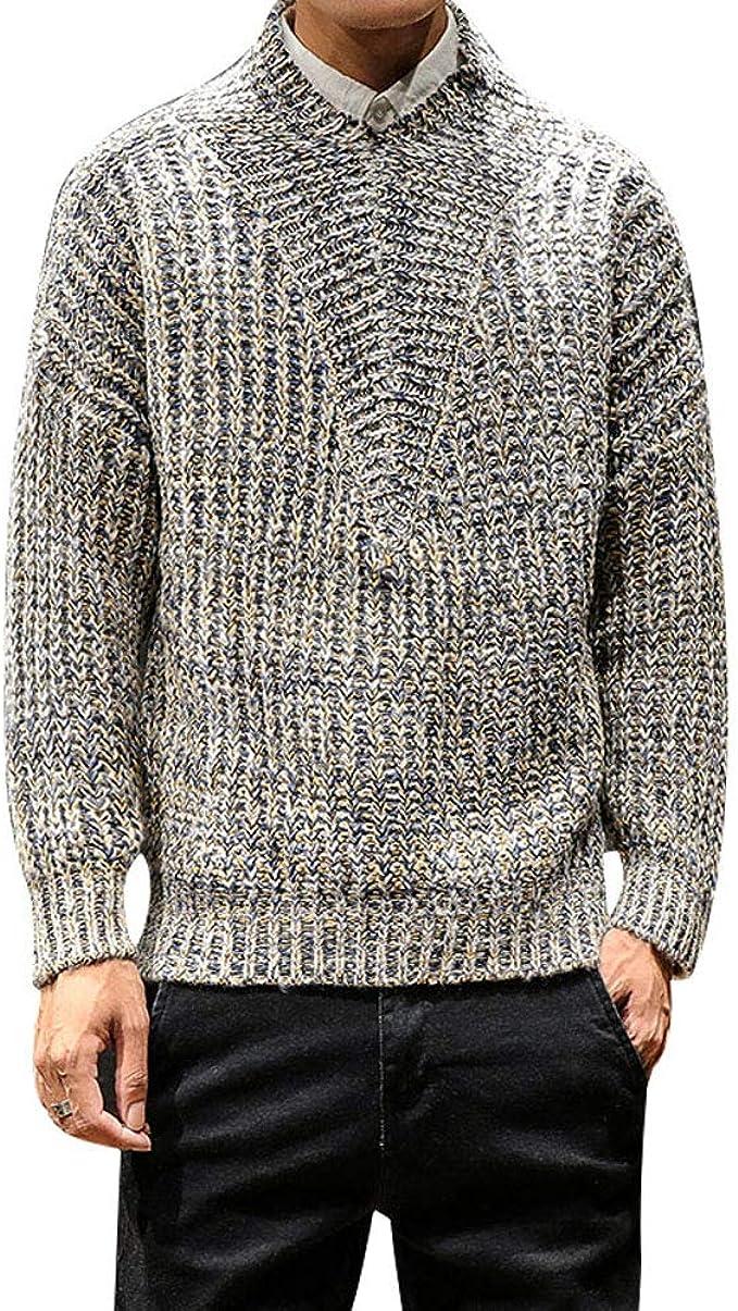 Wonder Wonder Manu0027s Pullover Turtleneck Knit Soft Pullover Sweater Fashion  Knit Sweater