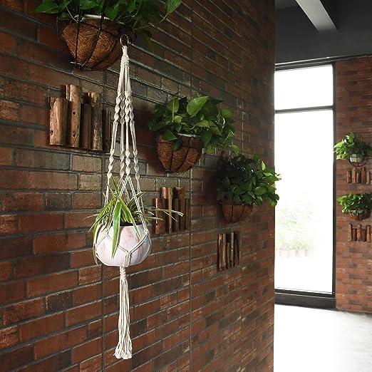 Amazon.com: Mokani Macramé Perchas para plantas, 4 paquetes ...