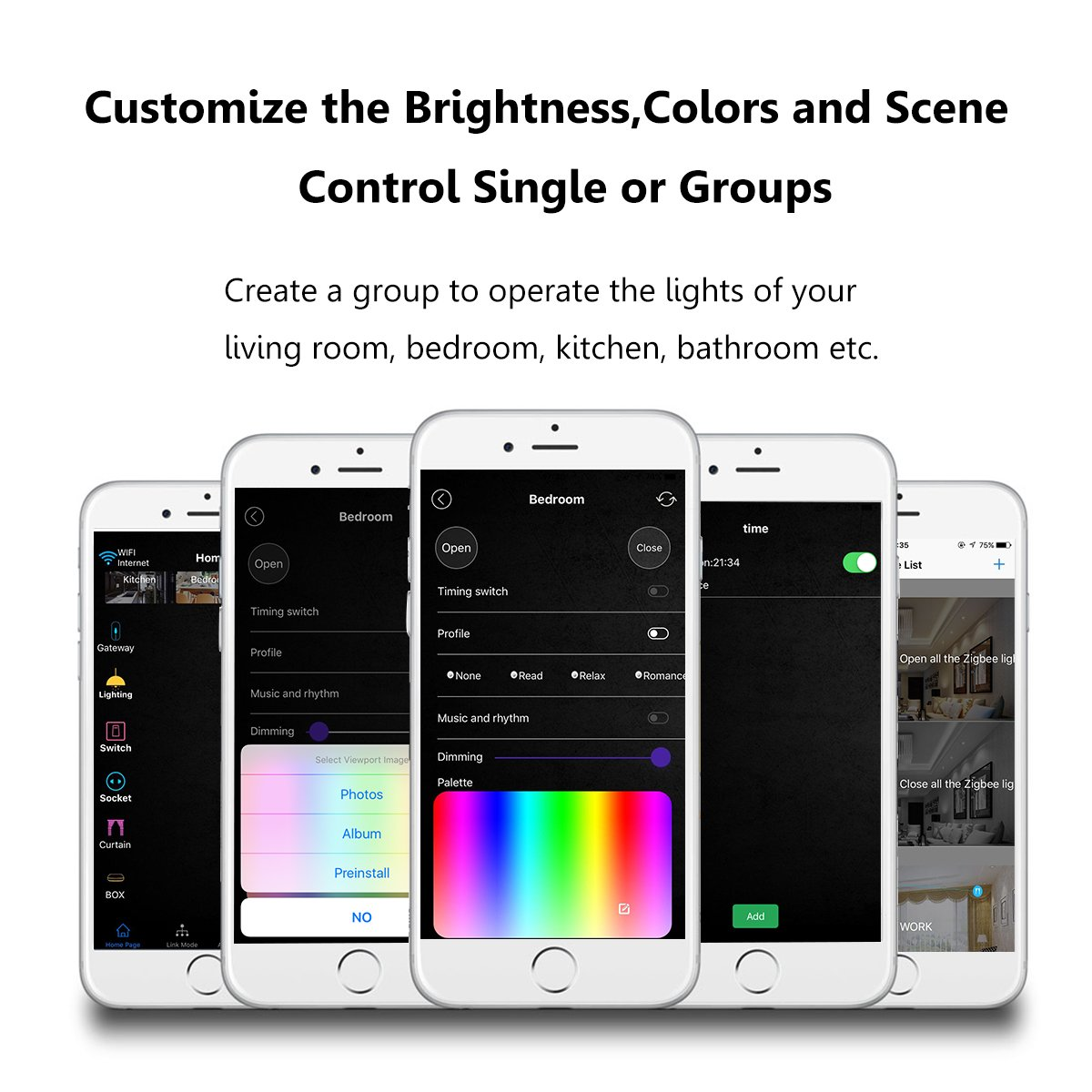 Compatible with  Alexa /& Google Home /& IFTTT Megadream WiFi Smart Bulb E27 Dimmable Multicolor RGBW LED Mood Light IOS Android Remote 50W Up to 50,000 Hours Life Auto Wake Up Voice Control