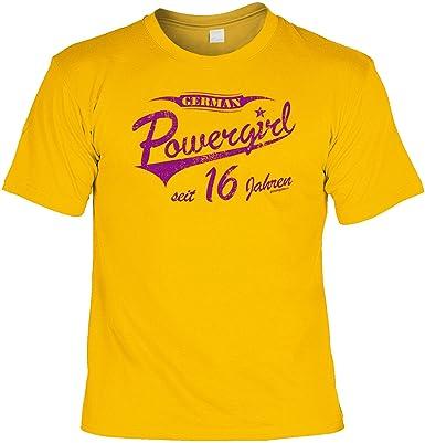 Lustiges T Shirt Zum 16 Geburtstag Spruche German Powergirl Seit