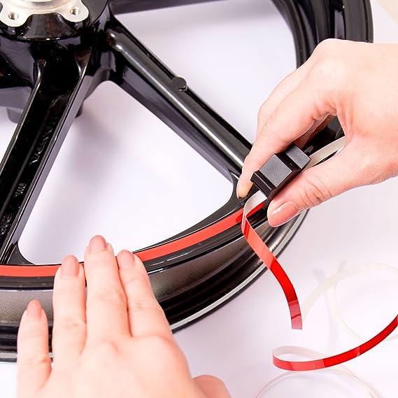 Motoking Felgenrandaufkleber Mit Montagetool Für Ihr Motorrad In Neon 6 Mm Für 10 Bis 25 Farbe Wählbar Neon Gelb Sport Freizeit