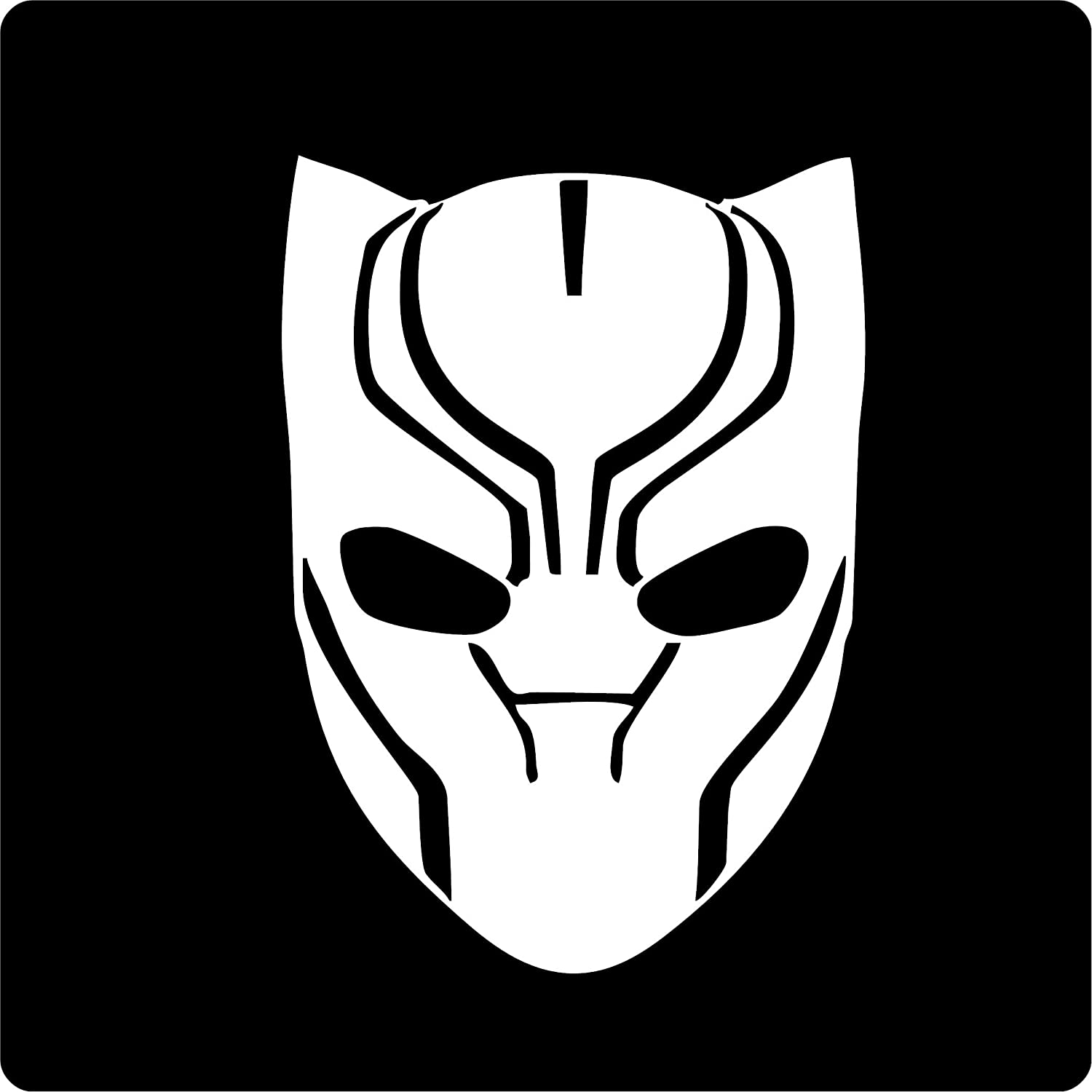 All about families marvel comics advengers black panther mask die cut decal sticker for tuck car windows laptop phone case bumper yeti cup mugs helmet car