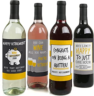 product image for Retirement Party - Gifts for Women and Men - Wine Bottle Label Stickers - Set of 4