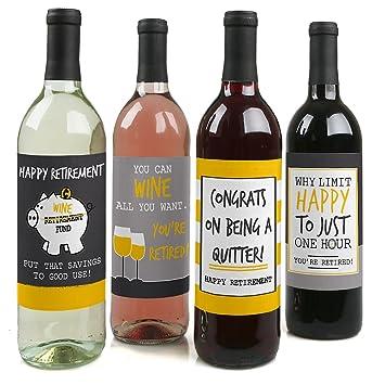 Amazoncom Retirement Party Wine Bottle Labels Set Of 4