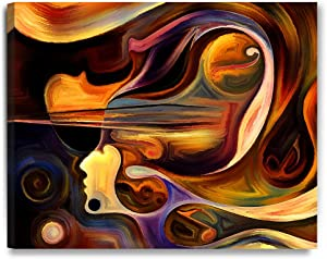 DECORARTS - Abstract Art(Inner Melody Series), Giclee Prints Abstract Modern Canvas Wall Art for Wall Decor. 30x24 x1.5