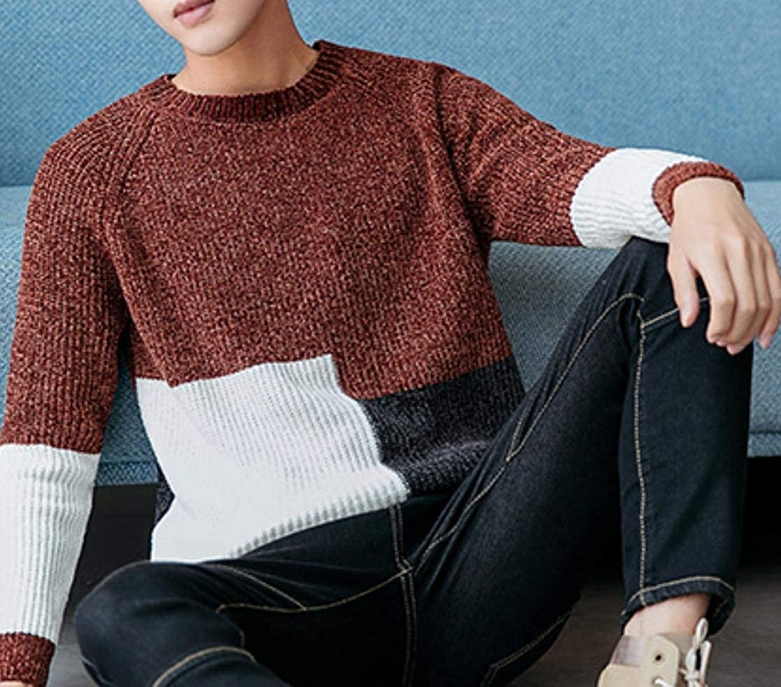 Tootless-Men Spell Color Pullover Sweater Keeping Warm Knitting Tops