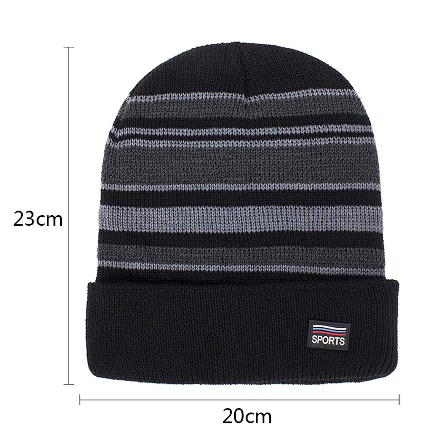 XINBONG Winter Hat Woman Man Unisex Casual Striped Cap Skullies Cotton Warm Outdoors for Boys Hat Gorros Bonnet