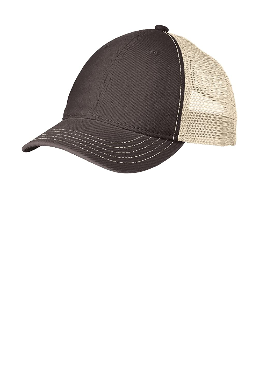6b1a0aa8cf5 District Super Soft Mesh Back Cap. DT630 Black  Khaki OSFA at Amazon Men s  Clothing store