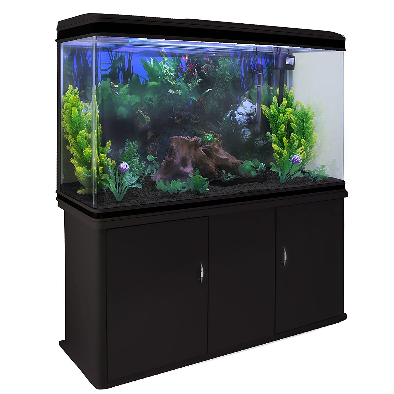 MonsterShop Fish Tank Aquarium & Starter Accessories Plants Black