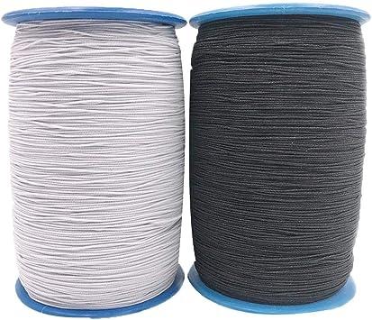 Junerain - Juego de 2 rollos de cuerda de látex elástica para ...