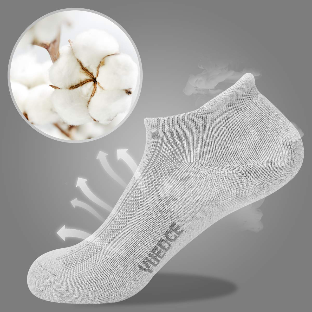 YUEDGE 3 Pairs Unisex Sports Performance Cushion Low Cut No Show Athletic Socks Sneaker Trainer Ankle Socks