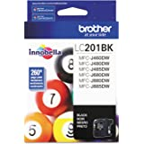 Brother Genuine Standard Yield Black Ink Cartridge, LC201BK, Replacement Black Ink, Page Yield Up To 260 Pages, Amazon Dash R