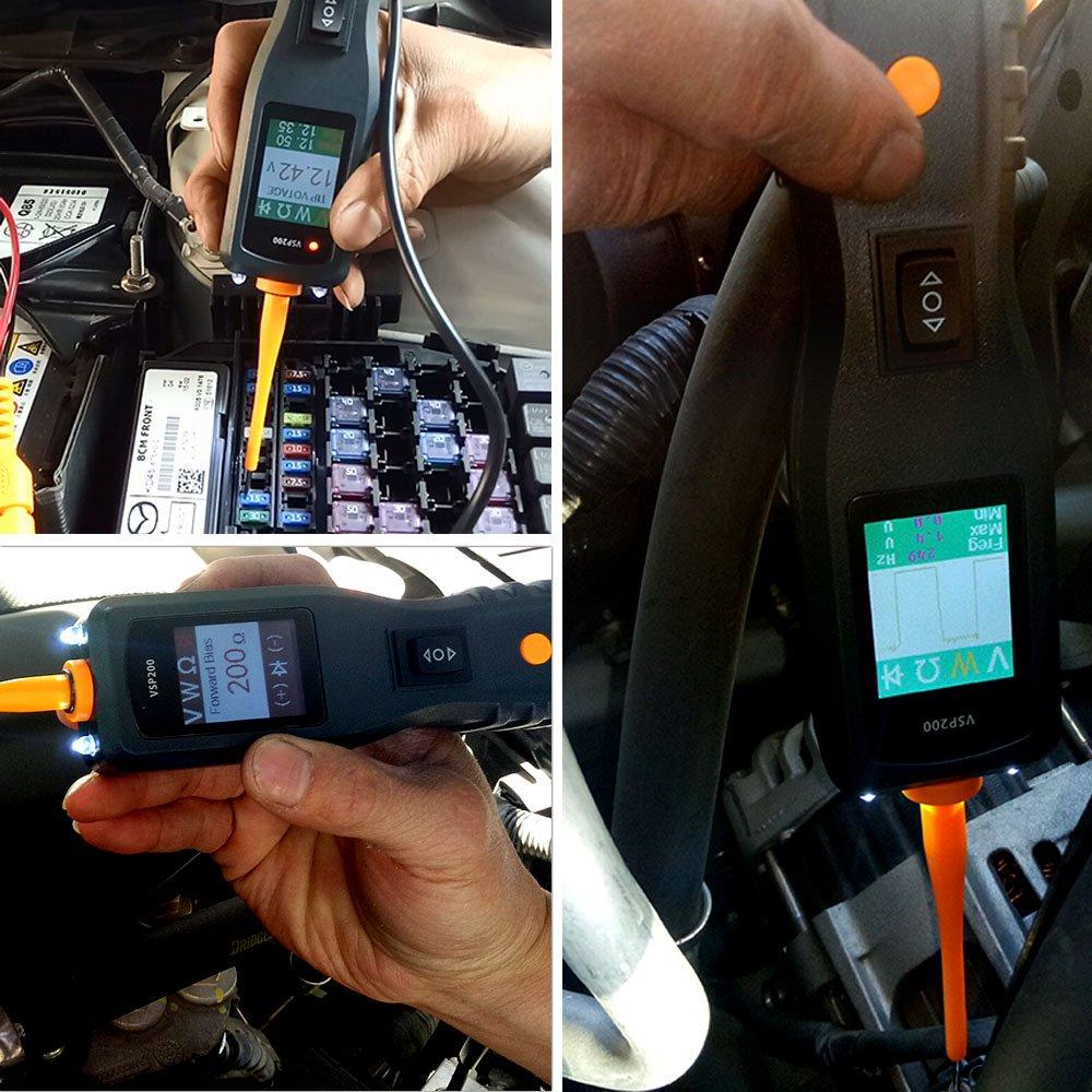 Aktuellen Widerstand Dioden Fahrzeug Automotive Tester VSP200 Professionelle Stromkreis Sondenkit DC //AC Signal Diagnostische Aktivierung Komponenten Werkzeuge F/ür 12v zu 24v Stromnetz