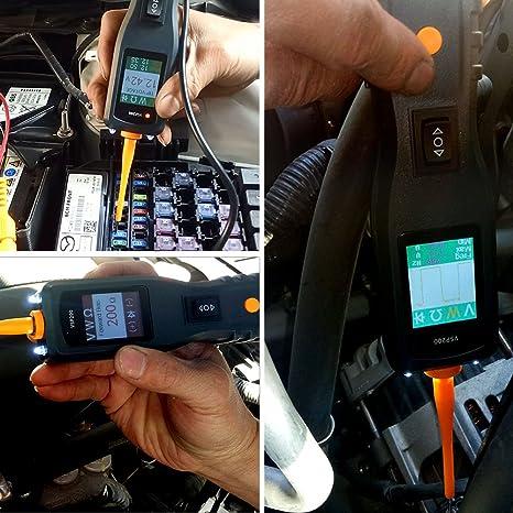 VXDAS vsp200 Kit de probador de circuitos Automotive comprobador de tensión de alimentación Auto probador de circuitos eléctricos sonda: Amazon.es: ...