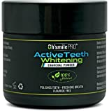 Active Teeth Whitening Charcoal Powder By Oh'Smile Pro 100% Natural