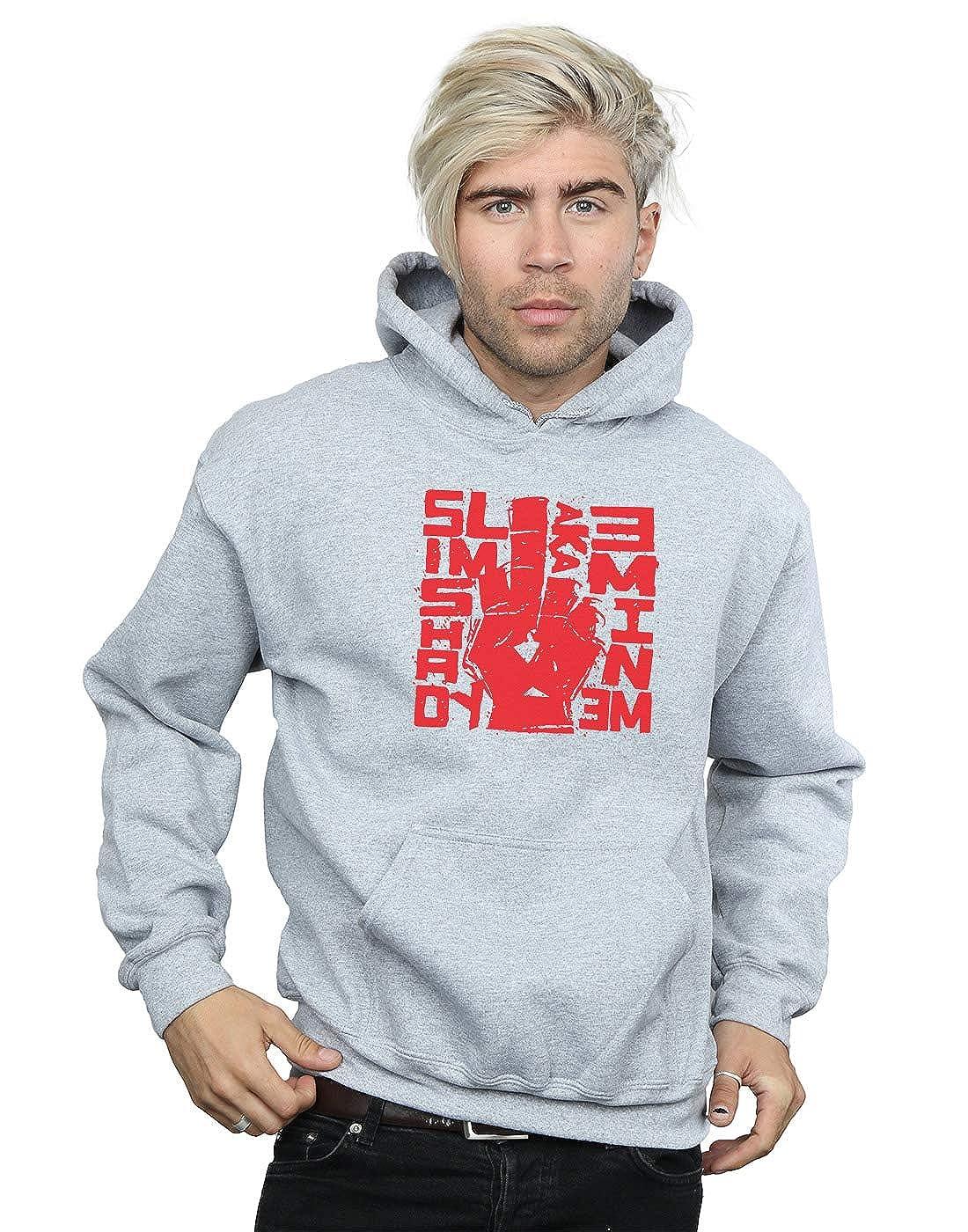 Eminem Herren Slim Shady Finger Kapuzenpullover