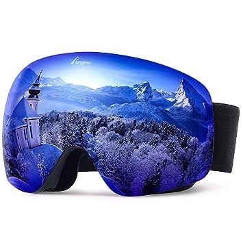 gran calidad estilo distintivo comprar popular Elegear Ski Gafas Snowboard Gafas Esquí Gafas esquí Hombre OTG Montura  Entera Campo Visual Máximo Lentes Antiniebla UV Protección 100% Hombre y  Mujer ...