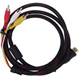 Gloriest 5Ft 1.5m HDMI To 3-RCA Video Audio AV Component Converter Adapter Cable For HDTV DVD