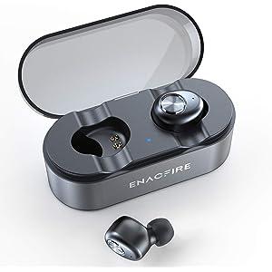ENACFIRE Wireless Headphones, E18 Plus Bluetooth Headphones AptX Stereo Sound CVC 8.0 Noise Cancellation Mic 48H Playtime IPX7 Waterproof Wireless Earbuds Earphones with Wireless Charging Case