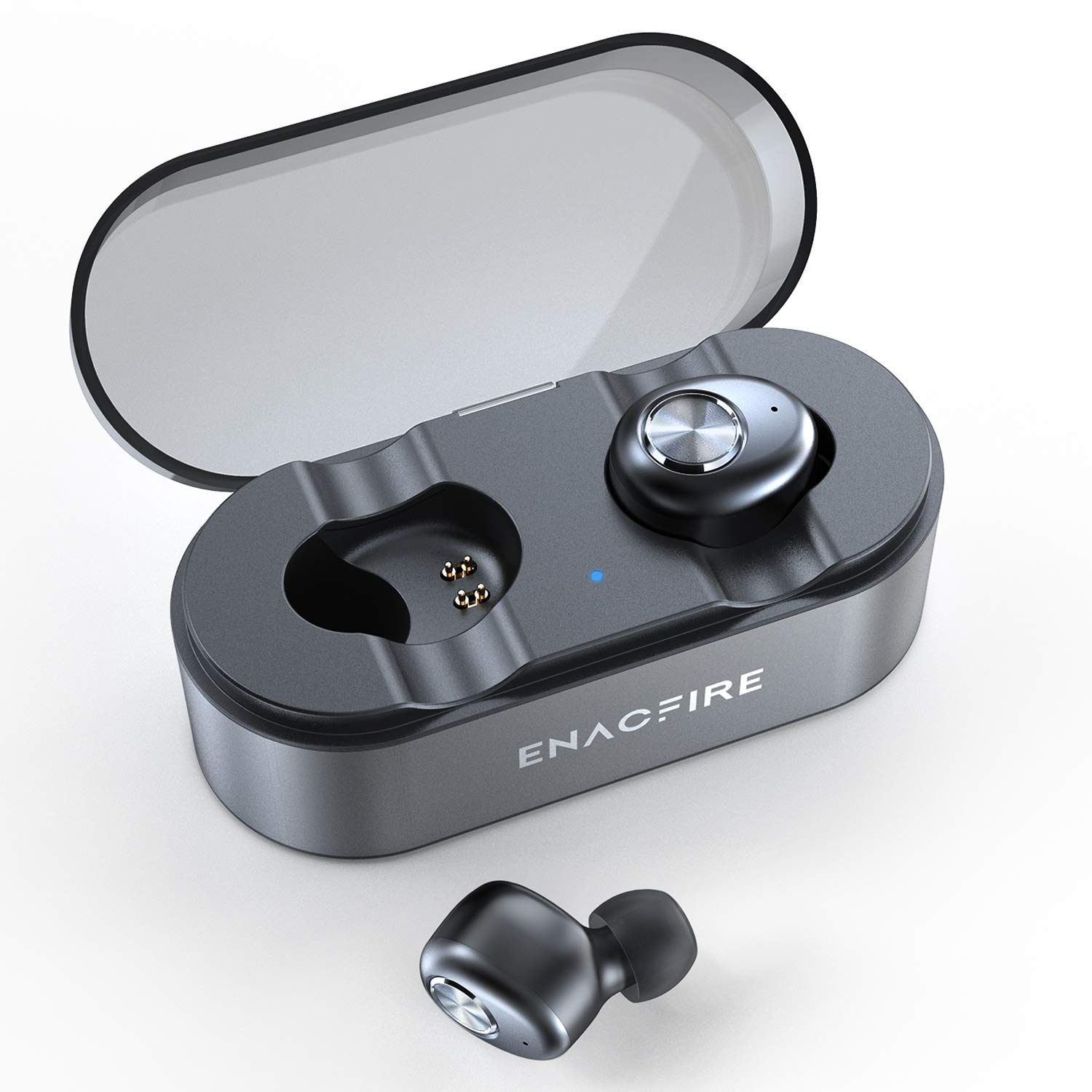 ENACFIRE E18 Plus Wireless Earbuds with Wireless Charging Case CVC8.0 3D Stereo Sound Deep Bass 8H Non-Stop Playtime IPX7 Waterproof Bluetooth Earbuds by ENACFIRE