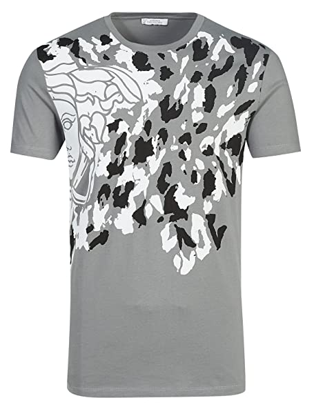 Versace Collection V800485S VJ00028 Camiseta Gris Grey V028 Hombre