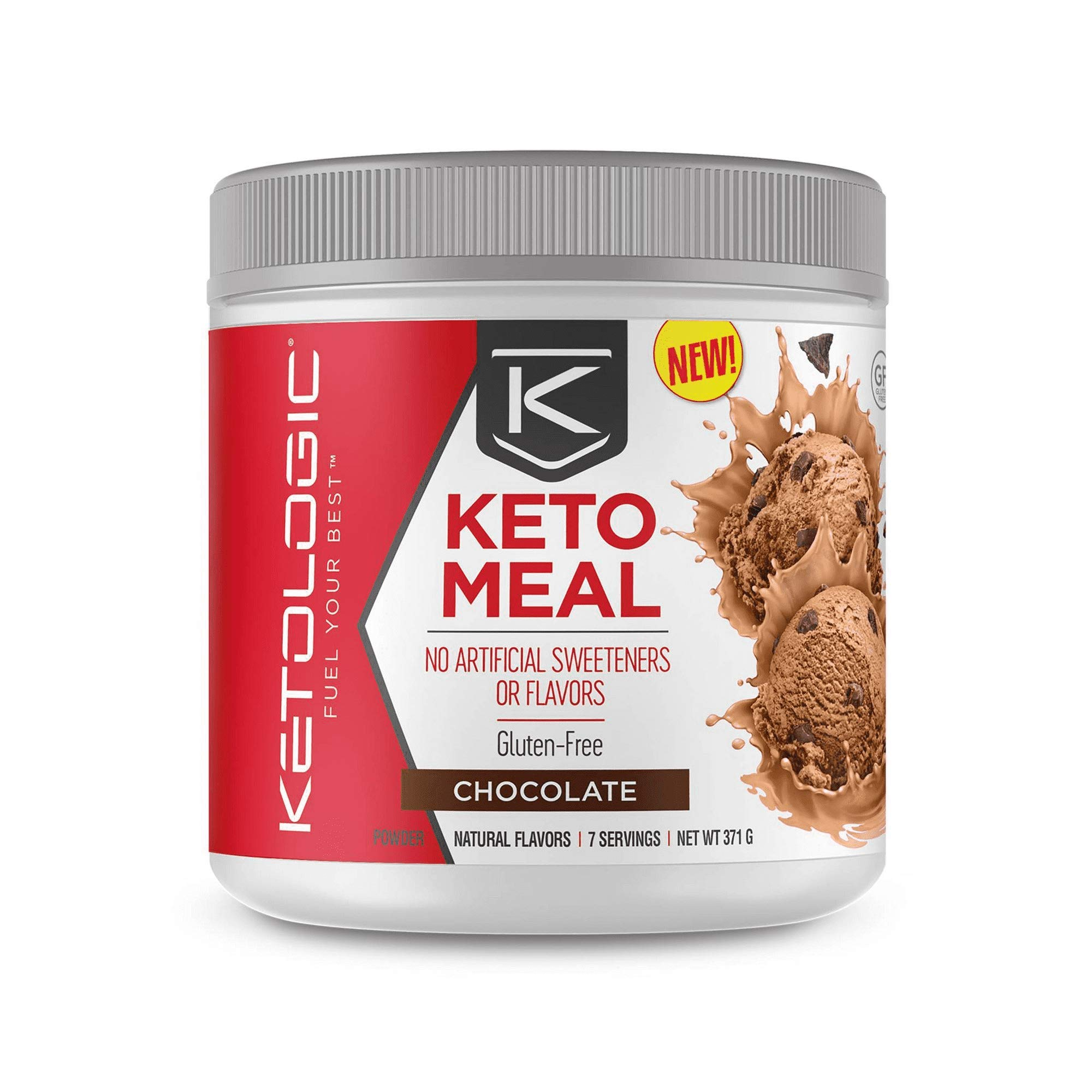 Keto Meal Powder Fuel Your Best, Chocolate, 13 oz (Pack of 2)