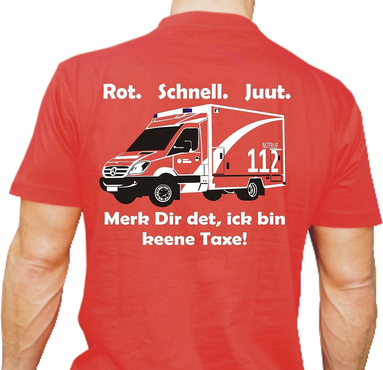 T-Shirt RTW: Rot. Schnell. Juut. Merk Dir det, ick bin keene Taxe! ick bin keene Taxe! feuer1
