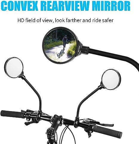 Espejo montado en el Manillar Giratorio Ajustable 360 Mountain Mountain Bike Yosoo Health Gear Espejo retrovisor de Ciclismo para Bicicleta