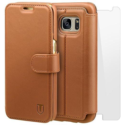 100 opinioni per TANNC Cover Samsung Galaxy S7 in Pelle [pellicola vetro temperato schermo